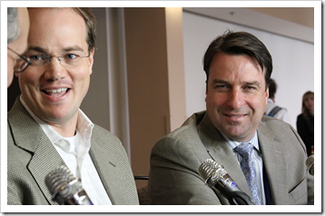 Charles Beeler and John Furrier in #theCube at #strataConf
