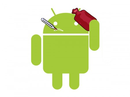 Android on Sick Google Android Robot   Siliconangle