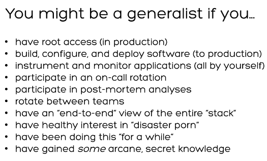 you might be a generalist if