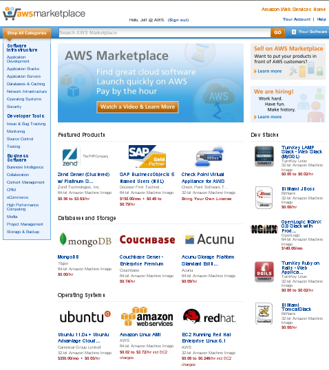 With Its New Marketplace, Amazon Web Services is Becoming the Next Microsoft