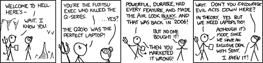 XKCD: laptop hell