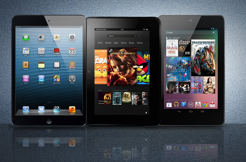 Tablet Wars: New iPad mini vs. Kindle Fire vs. Google Nexus 7