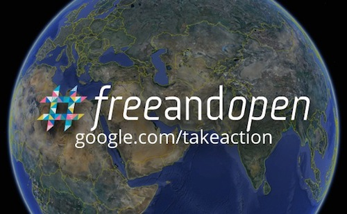 Google Launches #Freeandopen Campaign To Defend The Internet