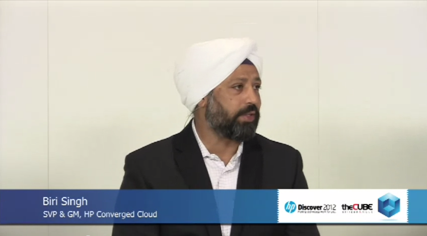 Biri Singh, SVP and GM of HP Converged Cloud