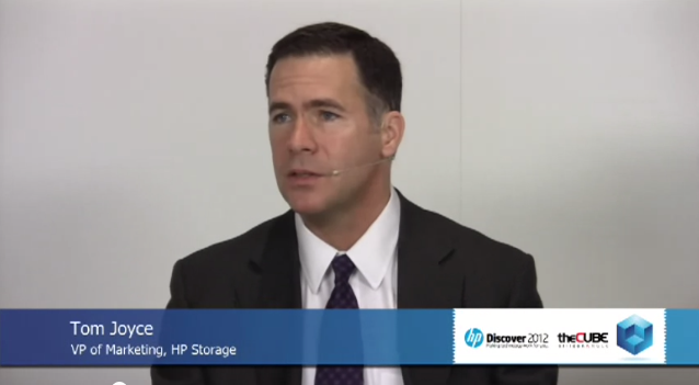 HP Storage VP Tom Joyce