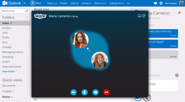 Skype for Outlook.com Rolls Out in the UK