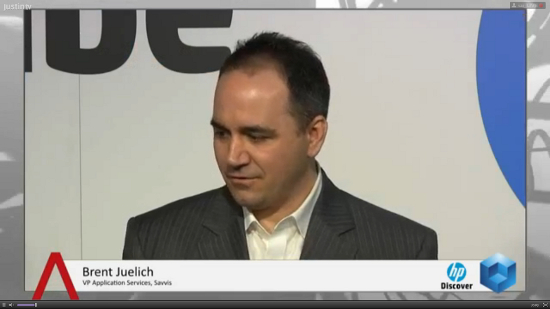 "Customers ""need tools to speed up business, reduce time to market,"" says Savvis' Brent Juelich  #HPDiscover"
