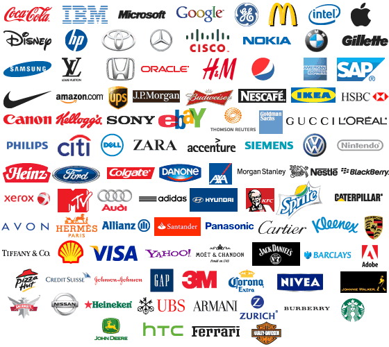 Top 100 brand logos siliconangle for Top product design companies