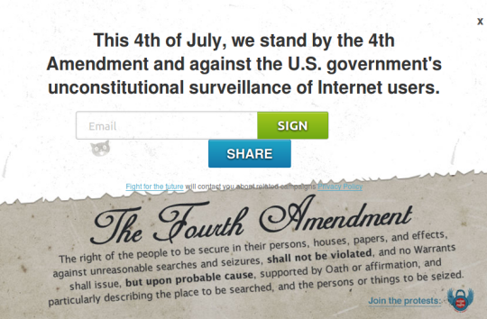 """Restore the Fourth"" PRISM Protest Set for Independence Day"