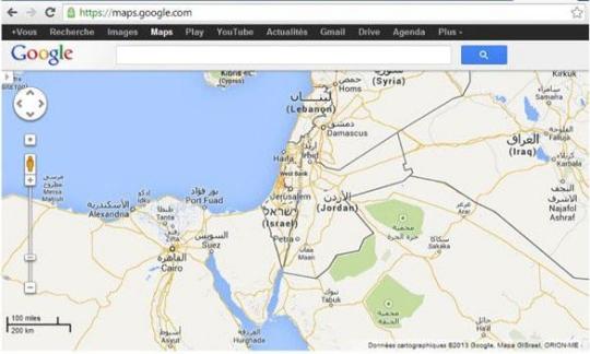 Google Maps Palestine-Israel - SiliconANGLE