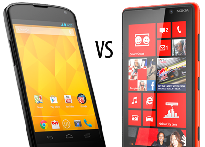 Windows phone vs androidpng apps directories