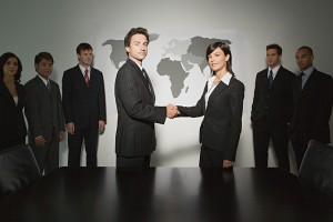 international deal handshake