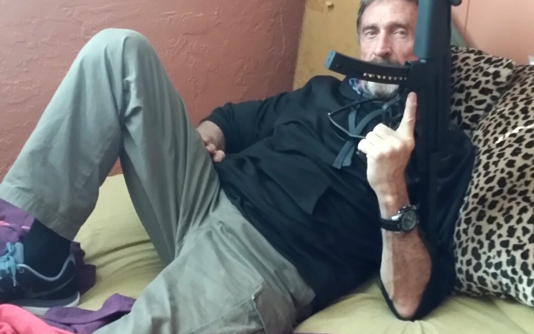 Exclusive: John McAfee's ultimate hack