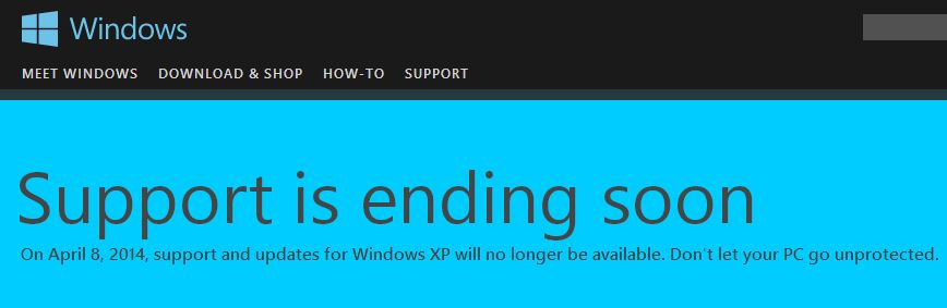 The last days of Windows XP - Security threat? You bet