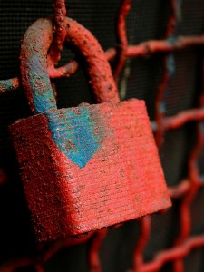 rust padlock privacy security lock