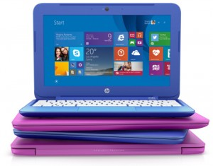 The colorful HP Stream series of laptops