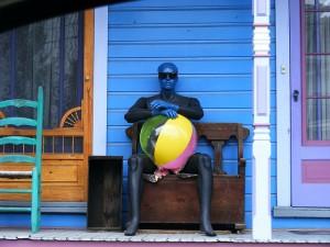 blue man sunglasses