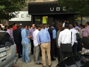 Uber drivers protest in NYC