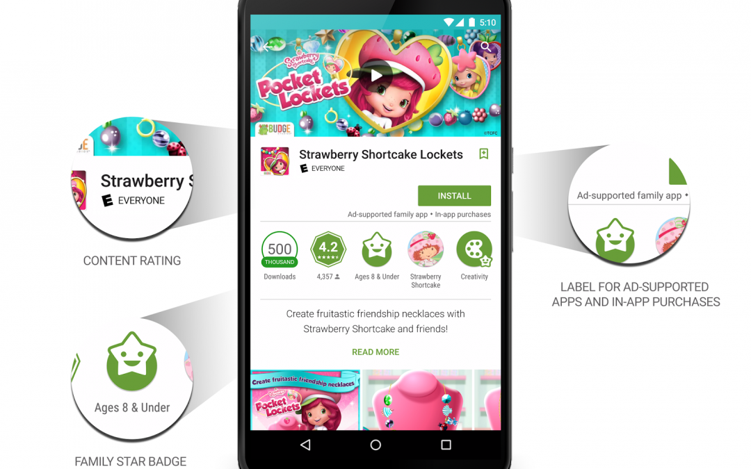 Google Play gets a family-friendly section with content ratings and age filters