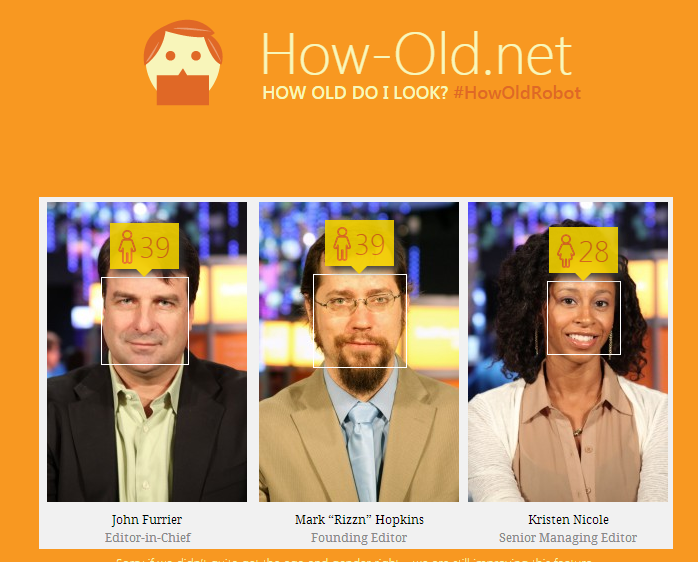 How old do I look? Microsoft's Big Data knows your age