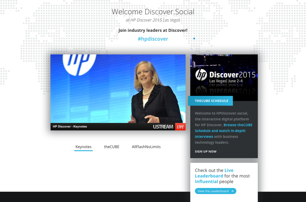 Watch LIVE keynotes from HP Discover 2015: See Meg Whitman and more