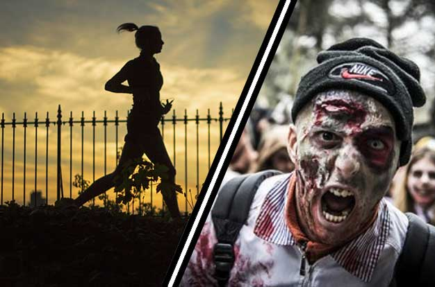 Zombie Awareness Tips: How to stay fit and in charge with your smartphone during the outbreak