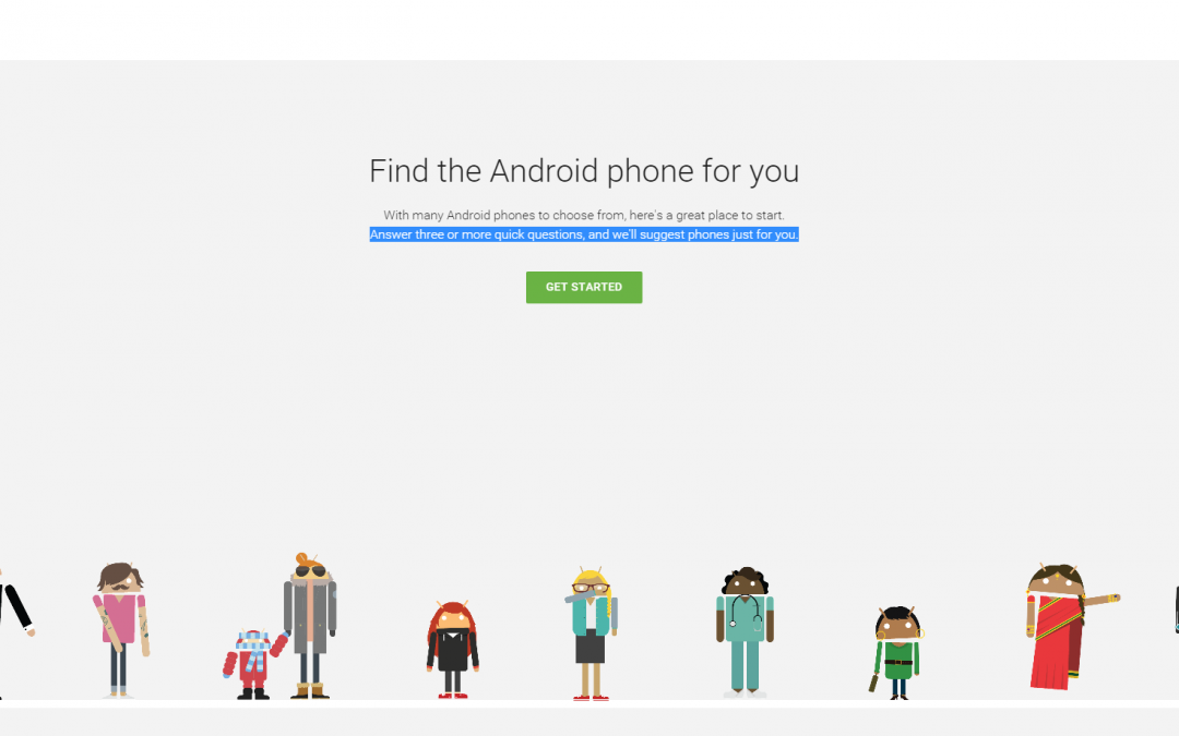 Google's new tool to choose an Android phone is useless