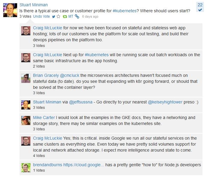 Screen cap 2 Google Cloud CrowdChat