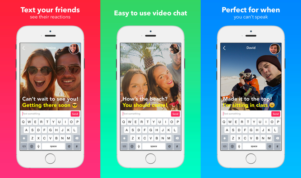 Yahoo's new Livetext app lets you video chat in silence