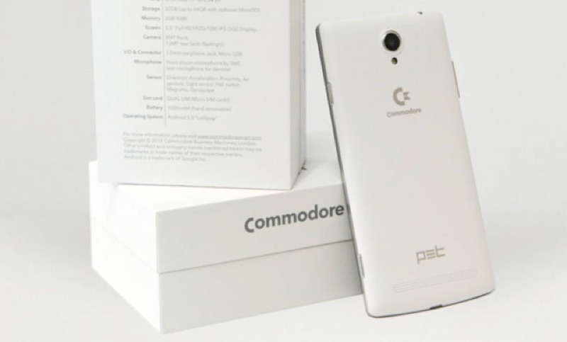 Back from the dead, computer brand Commodore lives once more, in the form of a smartphone