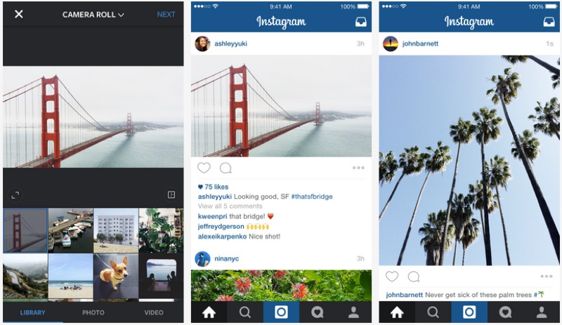 No longer hip to be square as Instagram adds landscape and portrait upload support
