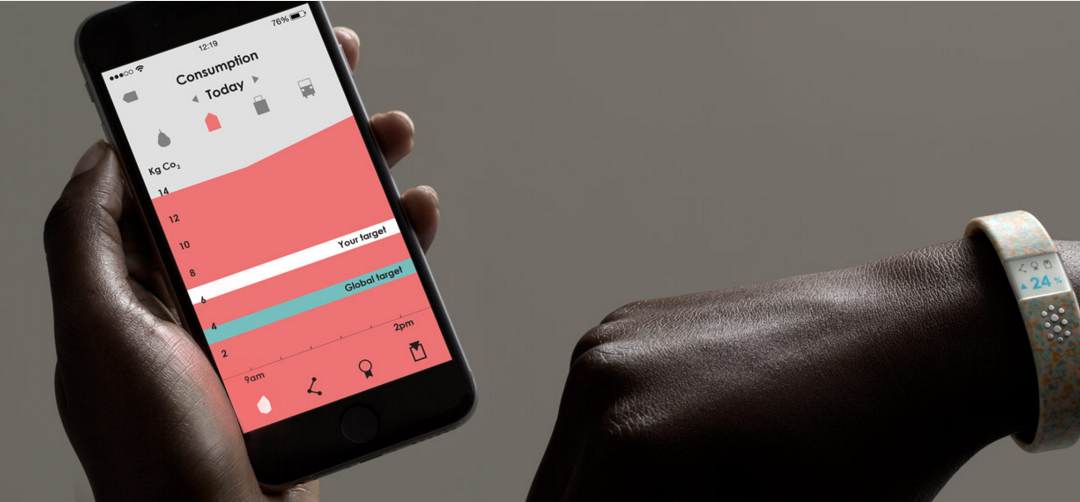 New wearable concept tracks your carbon footprint, sets rewards goals