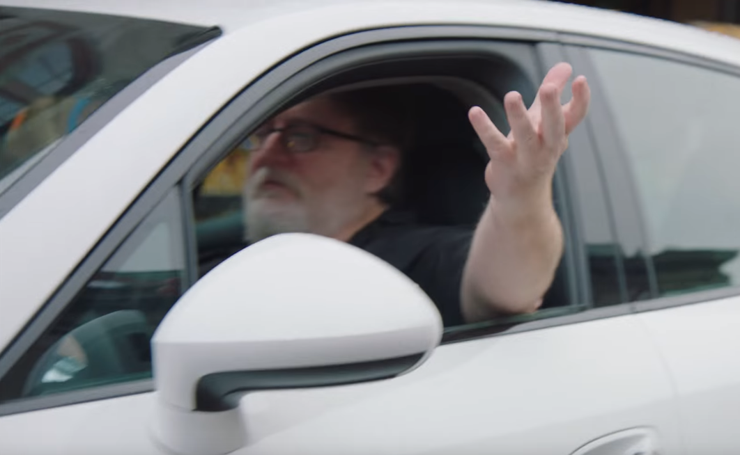 Gabe Newell Joule ad cameo