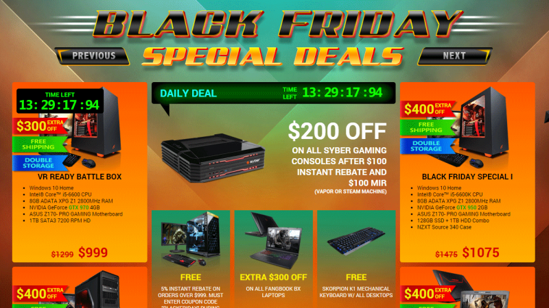 Black Friday week PC gaming hardware presale deals for the