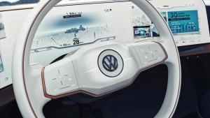 VW BUDD-e steering wheel