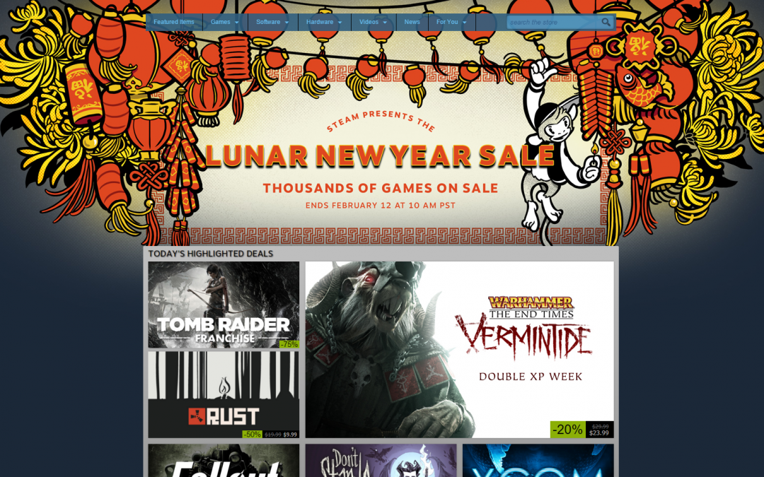 Valve gets clever with content discovery for the Lunar New Year Steam Sale