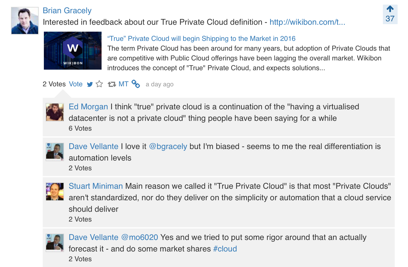 trueprivatecloud crowdchat: what makes a private cloud truly a cloud