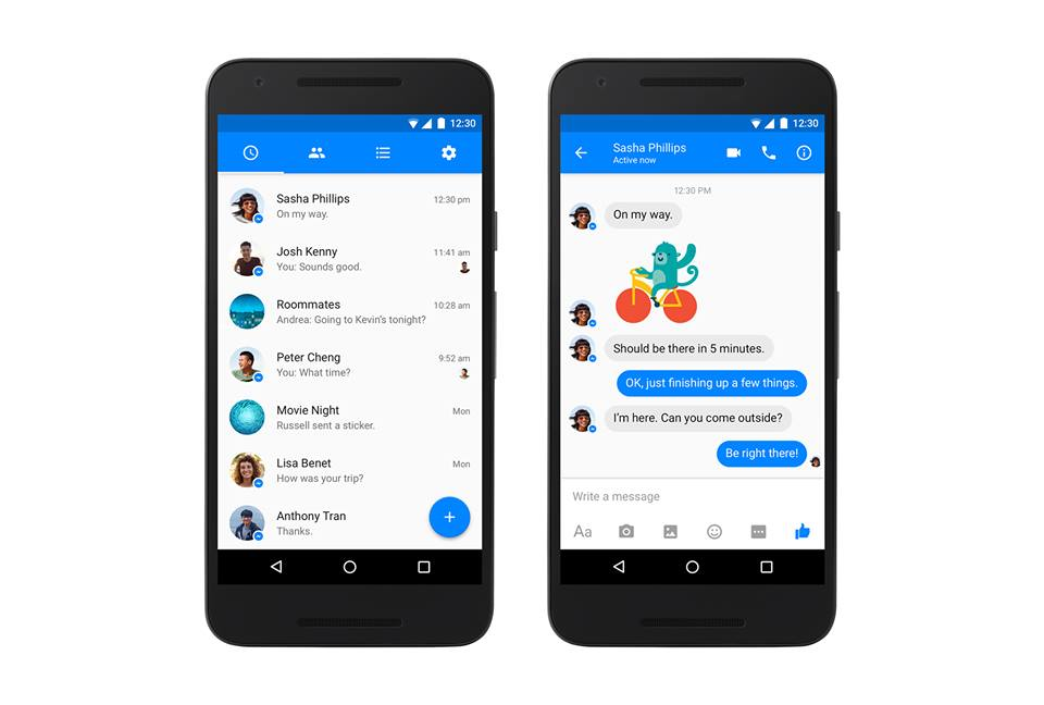 Facebook messenger new 2016