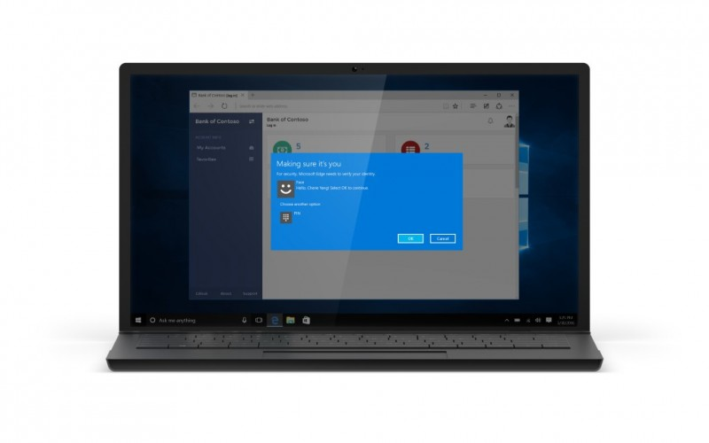 You to use windows hello to log into windows apps and microsoft edge