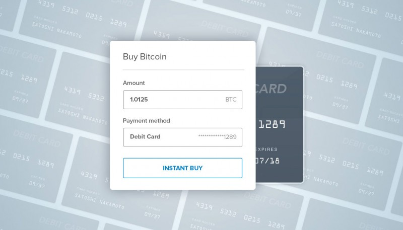 Coinbase will soon allow U.S. customers to use debit cards for instant purchase of bitcoins. Image credit: Coinbase, Inc.