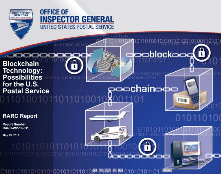 From the U.S. Postal Service report on possible uses of blockchain technology.