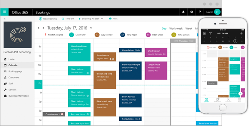 New Microsoft Bookings helps companies manage their appointment calendar