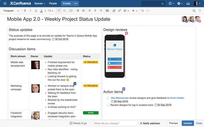Live data editor highlights major new Atlassian Confluence release