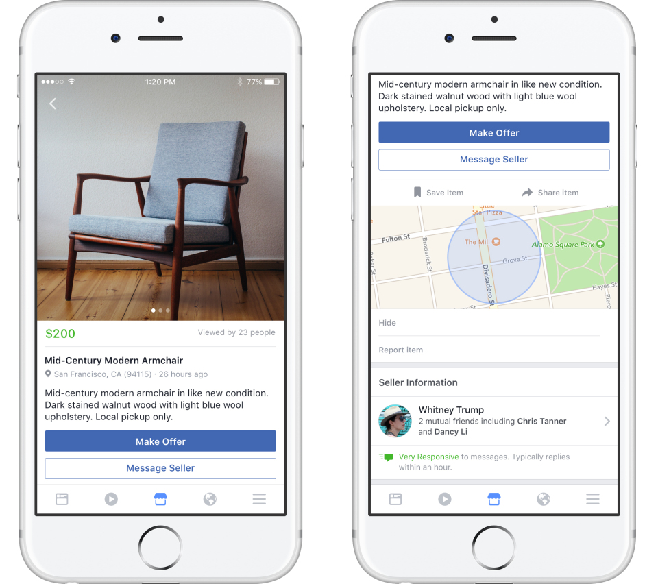 look out craigslist facebook launches marketplace for local goods siliconangle. Black Bedroom Furniture Sets. Home Design Ideas