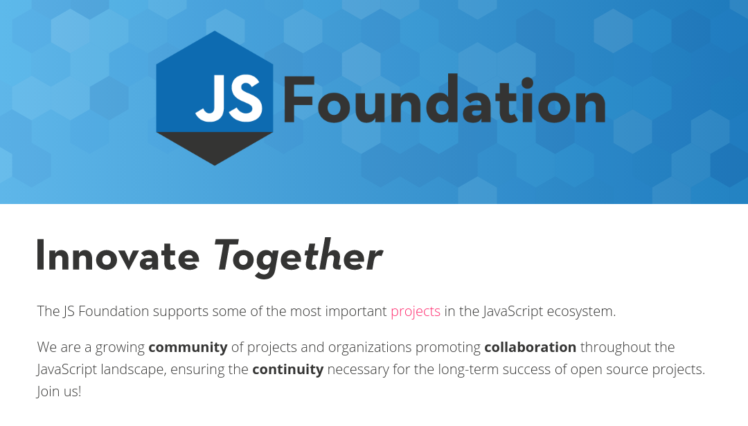 The JS Foundation launches to unite the JavaScript community
