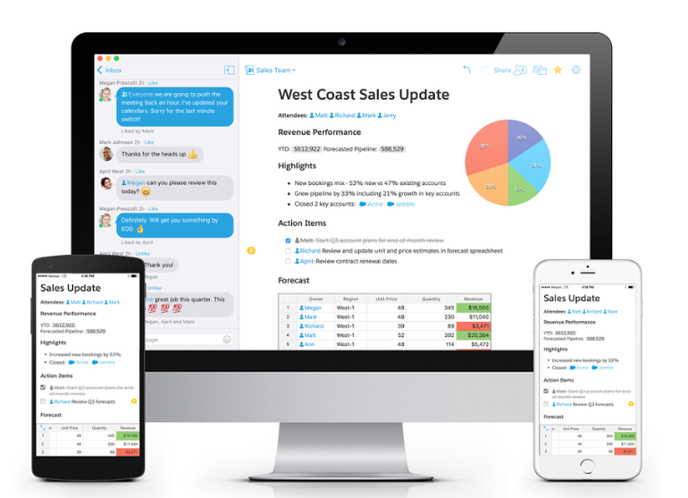 Salesforce integrates Quip with single sign-on, live data