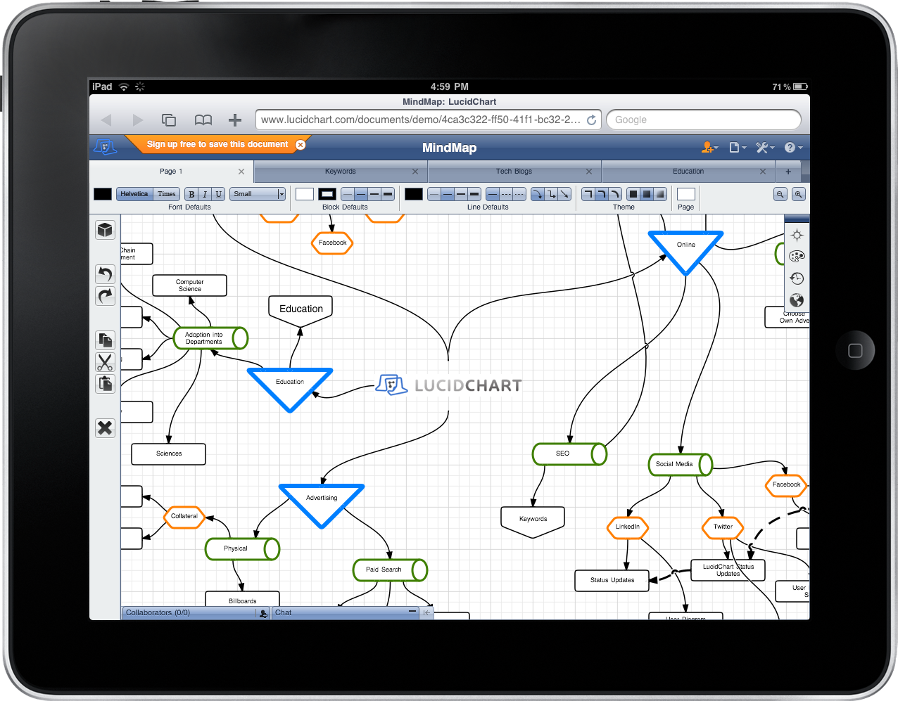LucidChart Launches Offline, Accessibility Features at