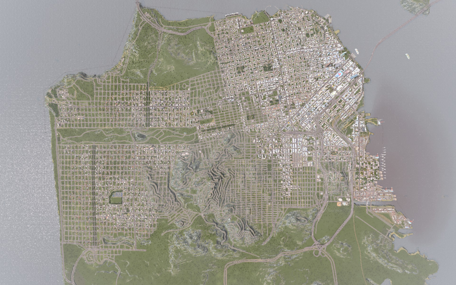 Ambitious player recreates san francisco in city building sim cities cities skylines san francisco gumiabroncs Image collections