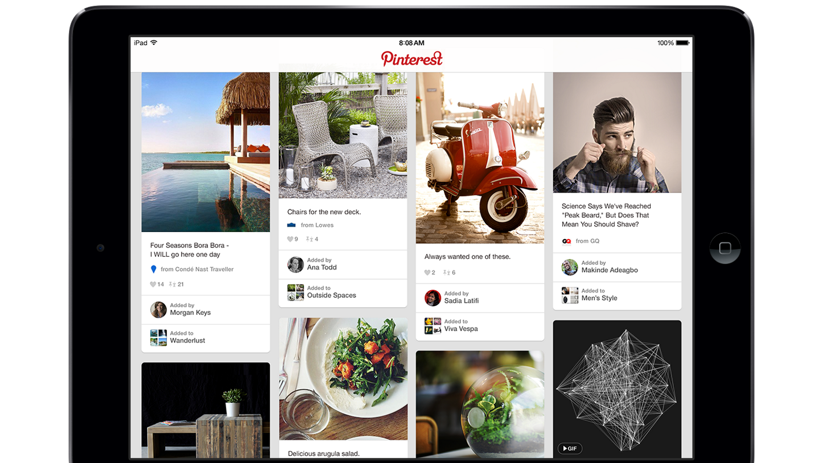 Pinterest For The Ipad