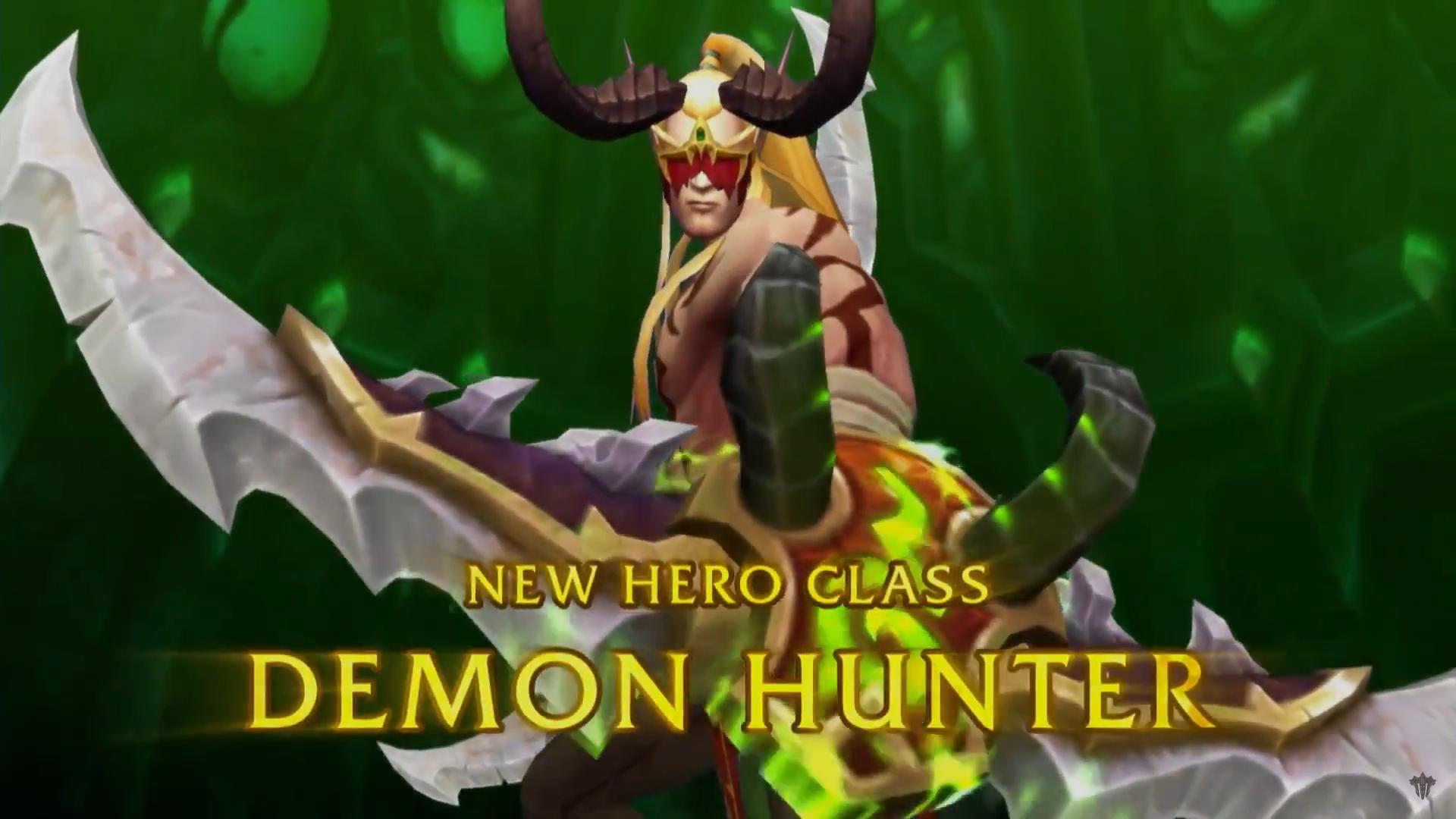 World Of Warcraft Legion Adds Demon Hunter Hero Class Artifact
